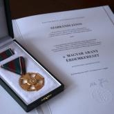 Gold Cross of the Hungarian Order of Merit.