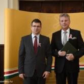 Gold Cross of the Hungarian Order of Merit - From left: Dr. Miklós Seszták, János Szarkándi.